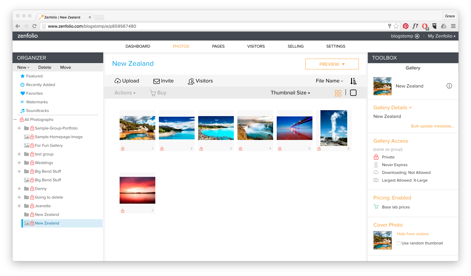 Upload to your Zenfolio gallery from BlogStomp | StompSoftware